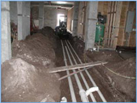 underground plumbing shop drawings and mep coordination drawings as  typically provided by jpk drafting & design